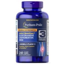 Для суставов и связок Puritans Pride Double Strength Glucosamine, Chondroitin Msm 240 таблеток