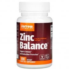 Jarrow Formulas®  Zinc Balance 100 капсул (L-метионина цинка)
