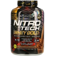 Muscletech® Nitro Tech™ 100% Whey Gold 2,51 кг (Double rich chocolate)