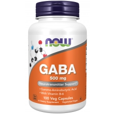 Now GABA 500 MG  100 капсул ГАМК (гамма-аминомасляная кислота)