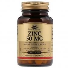 Solgar® Zinc 50 mg 100 таблеток (глюконат цинка)