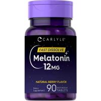 Carlyle™ Melatonin 12 mg 90 быстро растворимых таблеток