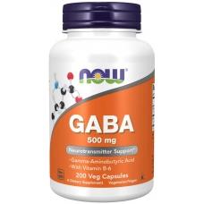 Now GABA 500 MG  200 капсул ГАМК (гамма-аминомасляная кислота)
