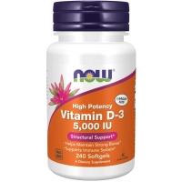 Now Vitamin D-3 5000 IU 240 капсул (Витамин Д)