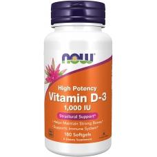 Now Foods Vitamin D-3 1000 IU 180 капсул (Витамин Д)