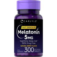 Carlyle™ Melatonin 5 mg 300 быстро растворимых таблеток