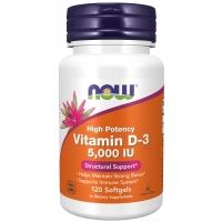 Now Vitamin D-3 5000 IU 120 капсул (Витамин Д)