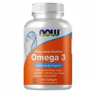 NOW Omega 3 500 капсул (300 EPA+DHA)