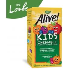 Natures Way Alive!® Childrens Chewable Multi-Vitamin 120 жевательных таблеток (Orange and Berry)