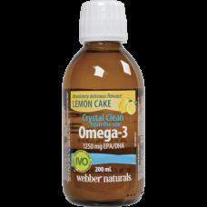 Webber Naturals® Omega-3 1250 mg EPA/DHA 200 мл. (Лимонный пирог)