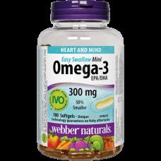 Webber Naturals® Omega-3 Mini 300 mg EPA/DHA 180 softgels