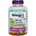 Webber Naturals® Triple Strength Omega-3 900 mg EPA/DHA 120 softgels