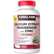 Цитратный кальций Kirkland Calcium Citrate 500 mg 500 таблеток
