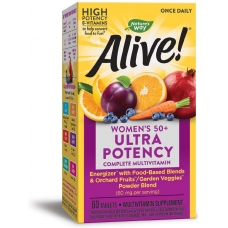 Natures Way Alive!® Once Daily Women's 50 + Ultra Potency 60 таблеток