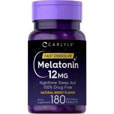 Carlyle™ Melatonin 12 mg 180 быстро растворимых таблеток