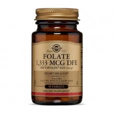 Solgar Folate 1333 mcg DFE (Metafolin 800 mcg) 50 таблеток