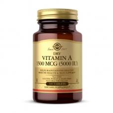 Solgar Dry Vitamin A 1500 mcg (5000 IU) 100 tabs