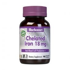 Bluebonnet Nutrition Chelated Iron 18 mg 90 veg caps