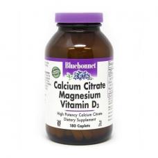 Bluebonnet Nutrition Calcium Citrate Magnesium Vitamin D3 180 caplets