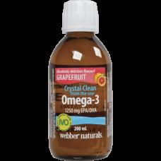Webber Naturals® Omega-3 1250 mg EPA/DHA 200 мл. (Грейпфрут)