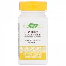 Natures Way Zinc 60 леденцов (вкус лесная ягода) (Цитрат и глюконат цинка)