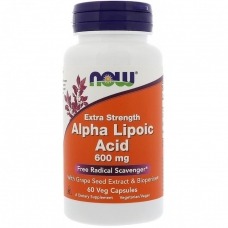 Now Alpha Lipoic Acid 600 mg 60 капсул