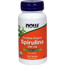 Now Spirulina 500 mg 100 таблеток