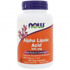 Now Alpha Lipoic Acid 100 mg 120 капсул