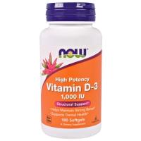 Витамины Now Vitamin D-3 1000 IU 180 капсул