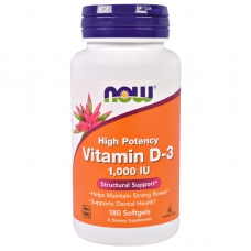 Now Vitamin D-3 1000 IU 180 капсул (Витамин Д)