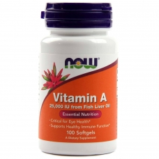 NOW Vitamin A 25,000 IU 100 Softgels