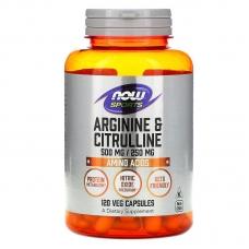 Now Arginine & Citrulline 120 капсул (Аргинин и цитруллин)