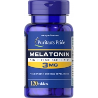 Puritans Pride Melatonin 3 mg 120 капсул