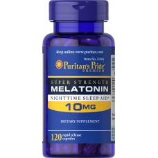 Puritans Pride Melatonin 10 mg 120 капсул