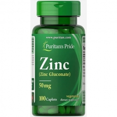 Puritan's Pride Zinc Gluconate 50 mg 100 таблеток (Цинк глюконат)